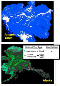 Amazon Basin and Alaska Imagery